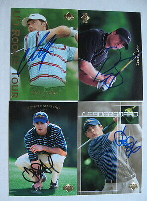 JONATHAN BYRD auto GOLF card 2003 UPPER DECK pga hand signed 2002 Rookie of Year