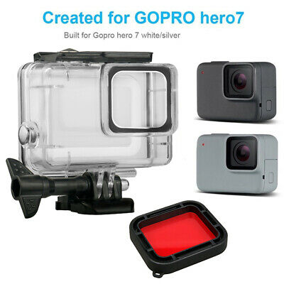 Clear Waterproof Case Diving Housing Shell+ Red Filter Kit For Gopro Hero7