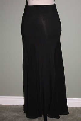 Clothing, Shoes & Accessories Sans Souci Chiffon Inset Black Maxi Skirt Size M New Without Tags Nwot Buy One Get One Free Skirts