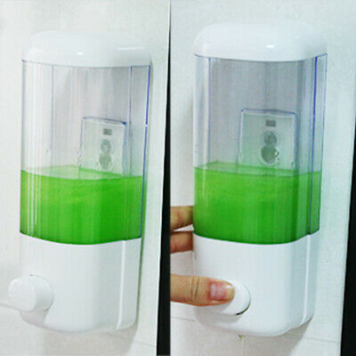 Liquid Soap Dispenser Wall Mounted Bathroom Hand Sanitizer Shower Gel Shampoo
