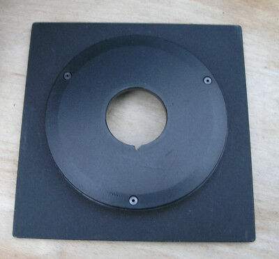 genuine Sinar F & P  lens board panel with 13mm top hat compur copal 0 hole