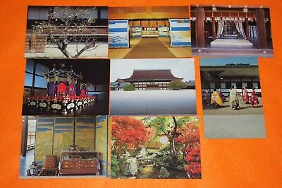 Japan Postcards 1998s Kyoto Imperial Palace set of 8 / Free