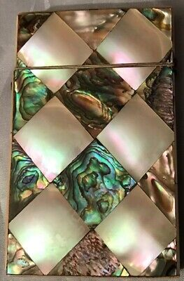 Antique Victorian Mother Of Pearl & Abalone Business/Calling/Visiting  Card Case