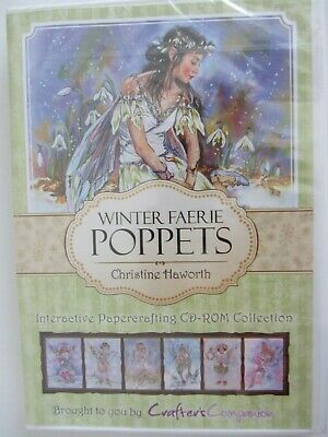 Christine Haworth Interactive Winter Farie Poppets CD Collection For Cardmaking+