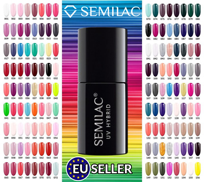 Semilac UV LED Hybrid Gel Polish Nail Polish 7 ml 300 Shades And Colors