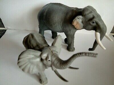2 X Elephant Play Figures-Papo & Timpo