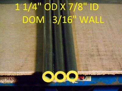 "E0043 Dom Round Steel Tube  1.250"" Od  X   .875""  Id  (.187 Wall)   48"" Long"