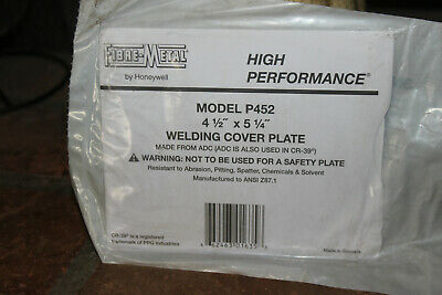 "Fibre-Metal By Honeywell 4.5"" X 5.25"" Welding Hood Cover Plate P452 6 of them"