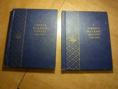 "Liberty Walking Complete Set ""Walkers"" 1916-1947 In Whitman Coin Albums-ID# R388"