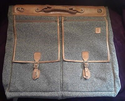 Hartmann Leather and Tweed Suitcase Luggage Carryall Vintage
