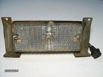 1969-1972 Chevrolet GMC RHS Clear Park Signal Light Lens Housing & Plug Used OEM