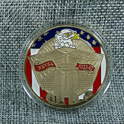 """911 Rememberence """"Never Forget """" Challenge Coin"""