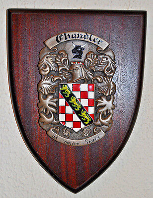 Chandler plaque shield crest coat of arms