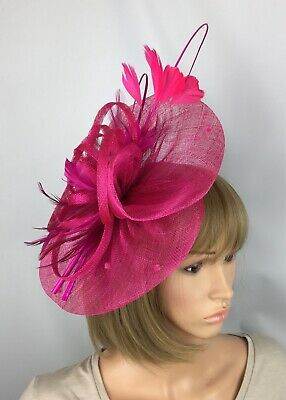 a51a2890a0d8f Fuchsia Pink Fascinator Mother Of The Bride Occasion Wedding Races Ascot Hat