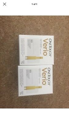 2 Boxes Of One Touch Verio Test Strips 50 (100 Strips In Total ) 1/2020
