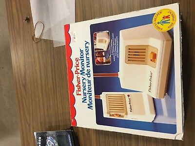 VINTAGE 1983 FISHER PRICE NURSERY MONITOR #157 — COMPLETE IN BOX AND tested
