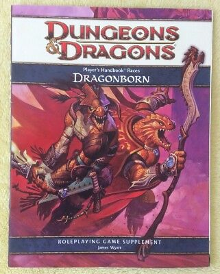 Dungeons & Dragons DRAGONBORN Player Handbook Races by James Wyatt NEW