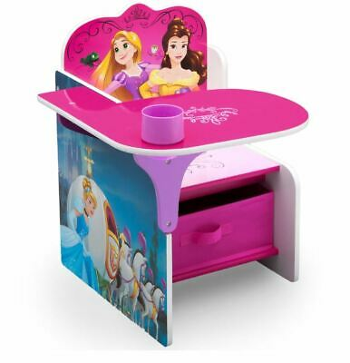 S Disney Princess Desk Chair With Storage Bin Childrens Furniture New
