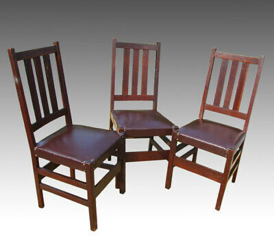 Set of Three L&jG Stickley Chairs w2481