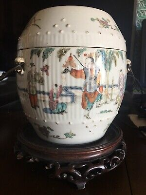 Perfect 19C Chinese Antique Porcelain Famille Rose Jar TongZhi Mark & Period