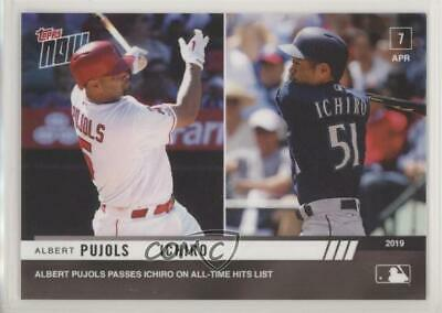 2019 Topps Now #56 Albert Pujols Ichiro Suzuki Seattle Mariners Baseball Card