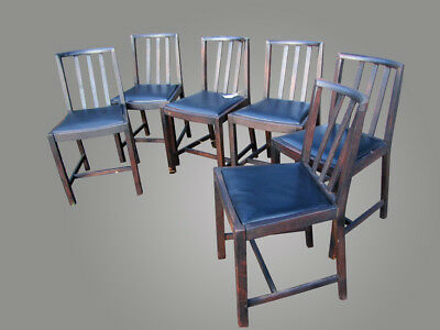 Set of Six Arts & Crafts Dining Chairs (Stickley Era) w4378  FREE SHIPPING TO OH