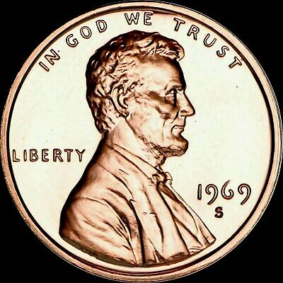 1969 S Proof Lincoln Cent Penny U.S. Mint