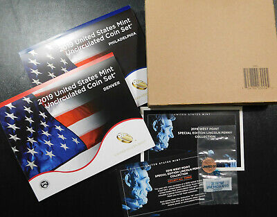 """2019 US MINT Uncirculated Coin Set, ALL 21 COINS! """"Complete Set 19RJ"""" IN STOCK!"""
