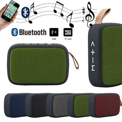Portable Wireless Bluetooth Stereo Hi-Fi FM MP3 Speaker Fit Smartphone Tablet