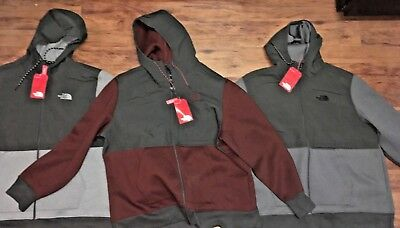 1df45aea The North Face Mens Thermal 3D Full Zip Hooded Heavy Jacket Gray Maroon XXL  Warm