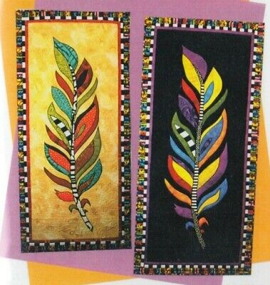 Feather - stylish applique & pieced wall quilt PATTERN - BJ Designs
