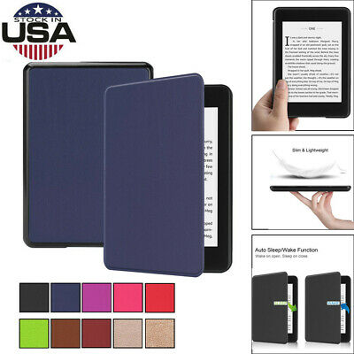 Fit Kindle Paperwhite Tablet Smart Thin Leather Sleep Awake Flip Cover Covers