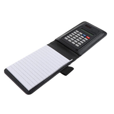Sturdy Fine PU Leather Top Notepad with Fine Outer Pocket and Calculator