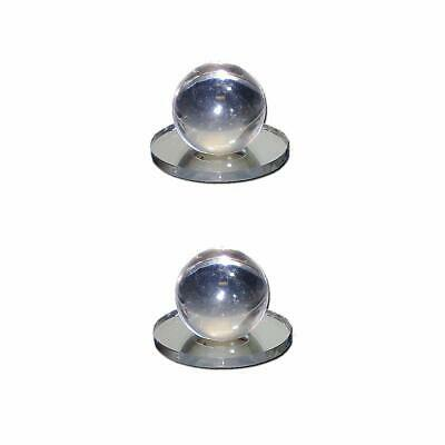 Mirart 1 x 1-1/2 Pull Handle, Self Stick Round Acrylic Mirror Knob (2 Pack)