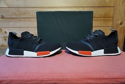 ace8d7908 ADIDAS NMD BOOST NMD R1 Black White Red Footlocker Mens Trainers ...