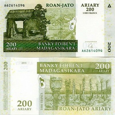 MADAGASCAR - 200 Ariary (1000 francs) 2008 FDS - UNC