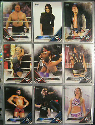 WWE WWF 2016 Topps Then now forever Trading Card Set