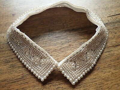 Vintage Beaded Faux Pearl Collar