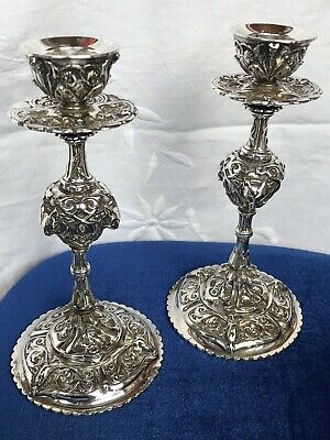 Antique Silver Plated Candlesticks By Elkington E&Co