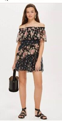 9bd9e8810be3 TOPSHOP MIX FLORAL Print Mini Skater Dress - Red - £42.00 | PicClick UK