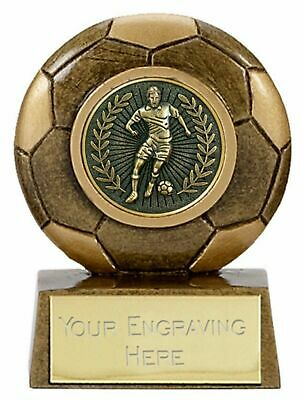 Personalised Mini Star Football Centre Trophy (gw) ENGRAVED FREE