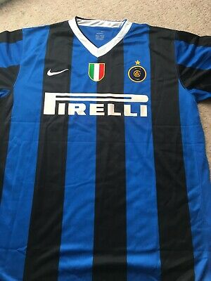 aa46dd3d380b7 Inter Milan 2009 2010 Home Shirt New With Tags Size XL 45/47 Logo on