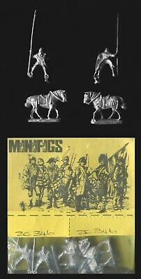 Minifigs 15mm Feudal Europe ZC346 Byzantine Lt Cavalry 13th C on old horses x 4