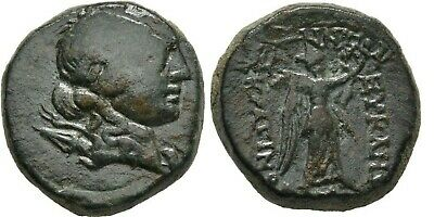 Ancient Greece 2-1 Cent BC Ionia Magnesia Maeandrum Artemis Nike Wreath