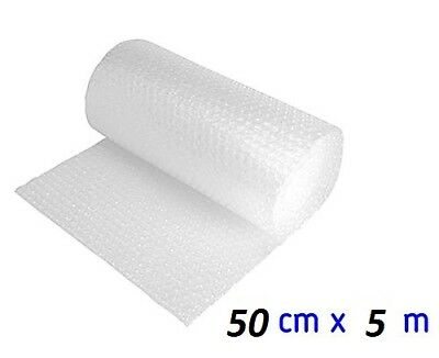 Rouleau de film bulle d'air 50cm x 5m - Lot de 10