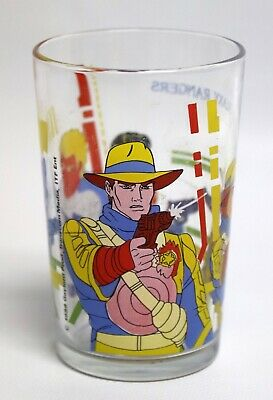 GALAXY RANGERS 1988 TF1 / verre moutarde décoré illustré glas glass / TBE