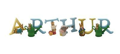 Official Licensed Beatrix Potter Peter Rabbit Boys Name Arthur Alphabet Letters