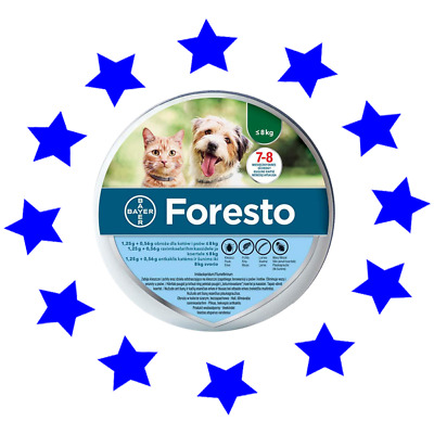 Bayer Seresto/foresto Flea & Tick Collar for Small Dogs & Cats up to 18lbs (8kg)