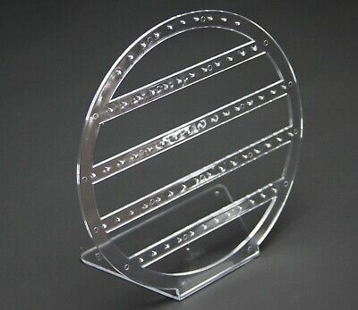 1 x Acrylic Round Earring Jewellery Display Stands Drop Studs Clear Black Pink