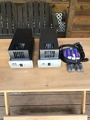 pair antique sound labs wave DT 6bm8 ecl82 mono tube power amplifiers tested